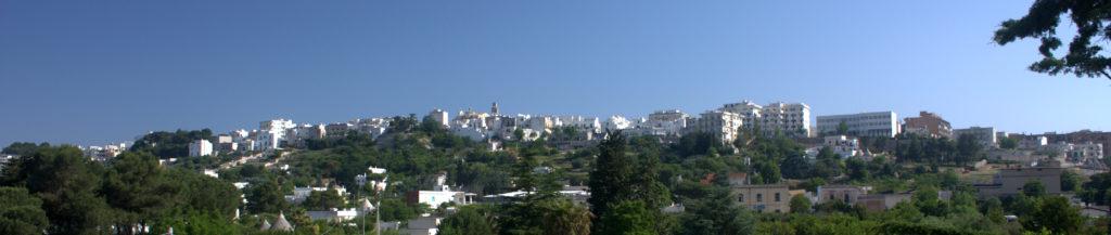 panoramisch uitzicht op cisternino