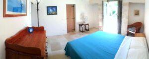 Slaapgedeelte accommodatie Vento met bed en meubel