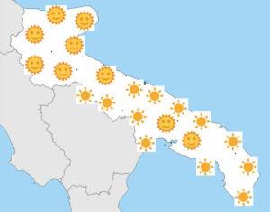 puglia met vele zonnetjes