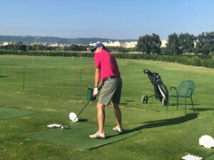 golfer op golfterrein